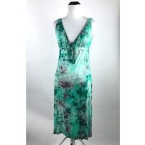 Lucky Brand Green Tie Dye Bathing Suit Swim Dress